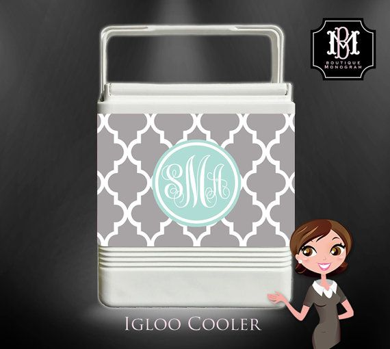 Monogrammed Igloo Cooler Personalized Cooler by BoutiqueMonogram