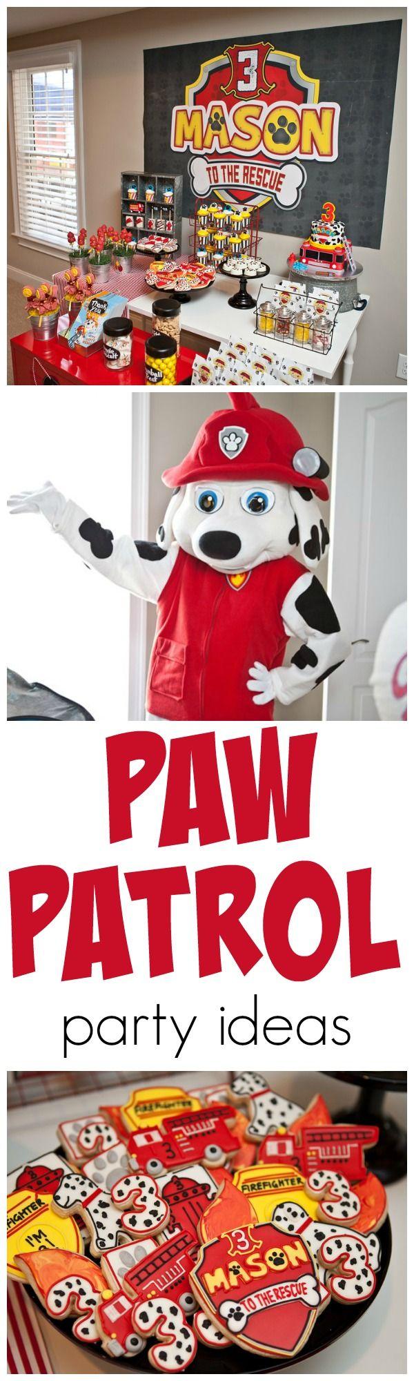 Adorable Paw Patrol Party Ideas!