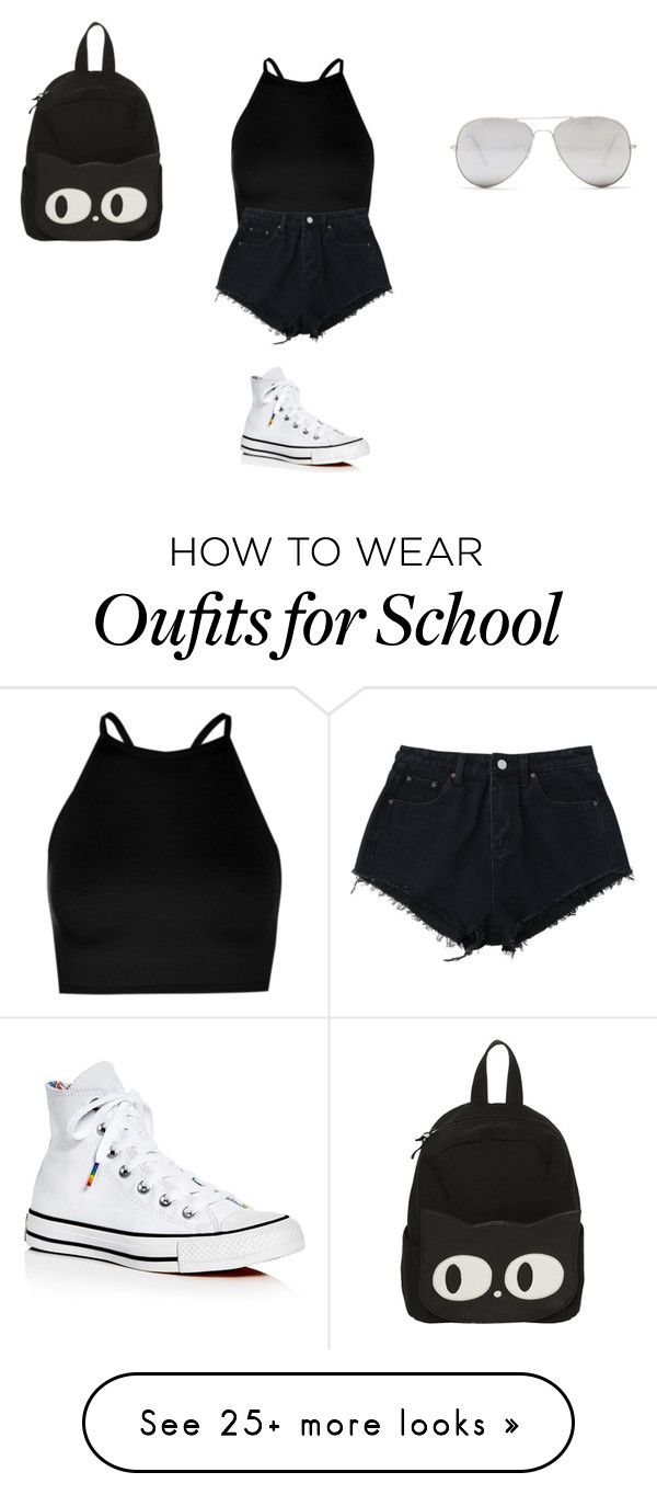 """""""Sans titre #9914"""" by ghilini-l-roquecoquille on Polyvore featuring Boohoo, Converse and Sunny Rebel"""