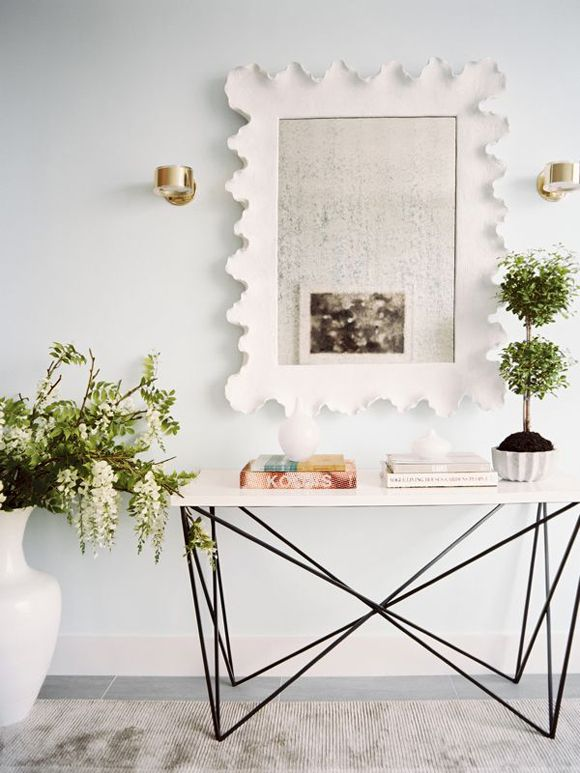 """""""I'm probably going to go with a very pale gray for all the common area walls (I LOVE Benjamin Moore's Pale Oak), but I'm super-duper tempted by Farrow and Ball's Cabbage White. It's this really bright, clear greeny-bluey white. I think it would be so fresh!"""""""