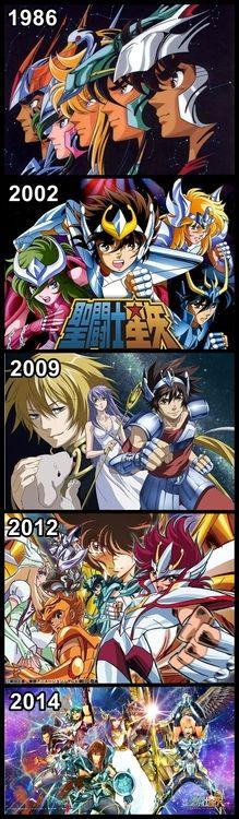 Orden Cronologico las diferentes animaciones deSaint Seiya