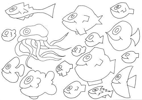 """ausmalbild """"unterwasserwelt 8""""  ausmalbilder ausmalen"""