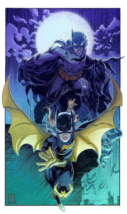 Batman & Batgirl by Ardian Syaf, colors by Benjamin Sawyer