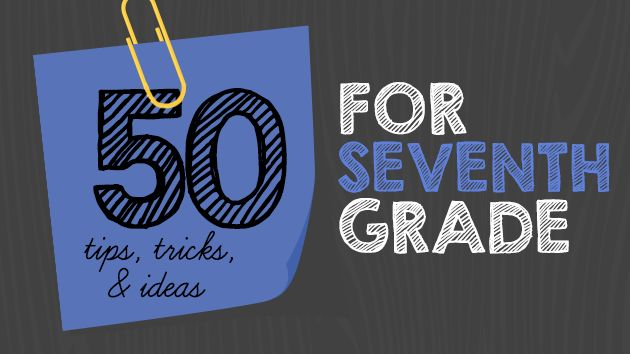 "50 ideas and tips from the WeAreTeachers Helpline and around the web for <g class=""gr_ gr_3 gr-alert gr_spell ContextualSpelling multiReplace"" id=""3"" data-gr-id=""3"">7th grade</g> teachers."