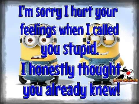 I'm sorry I hurt your feelings..