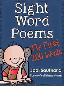 http://www.teacherspayteachers.com/Product/Sight-Word-Poems-First-100-Sight-Words-1091219