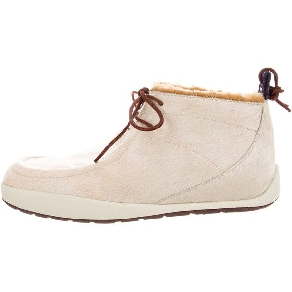 Pre-owned Nike Ponyhair Chukka Boots ($95) ❤ liked on Polyvore featuring men's fashion, men's shoes, men's boots, neutrals, nike mens boots, mens chukka shoes, mens pony hair shoes, mens rubber sole shoes and mens shoes chukka boots