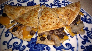 Butternut Squash, Black bean and Goat cheese quesadilla - I never ...