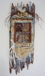 Tree house ~ artist Yitte      #art #collage #mixed_media