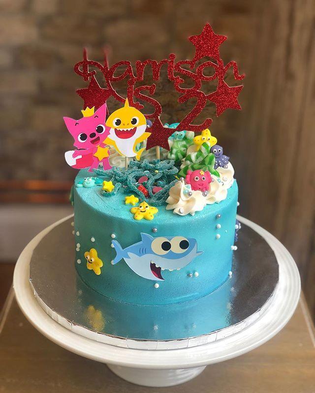 Baby Shark Doo Do Doo Dodo Doo Dooo Happy Birthday Harrison Thank You Fo Much For Keeping This Song In My Head Allll We Bolos De Aniversario Aniversario Bolo