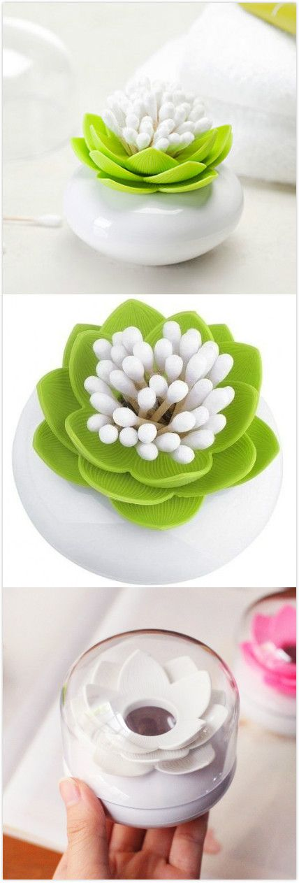 Lotus Cotton Swab Box Toothpicks Holder. #home_gadgets #product_design D'autres gadgets ici  https://bestproductsfor.com