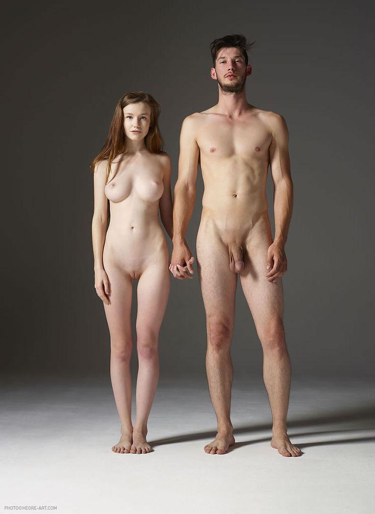Male and female body comparison