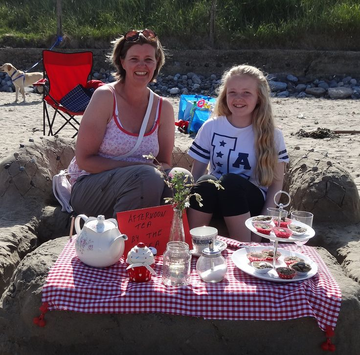 Sandcastle Competion 2014 afternoon tea in sand well done!