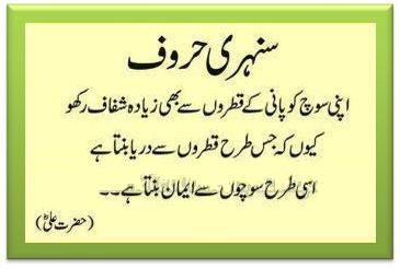Beautiful Aqwal E Zareen Hazrat Ali In Urdu
