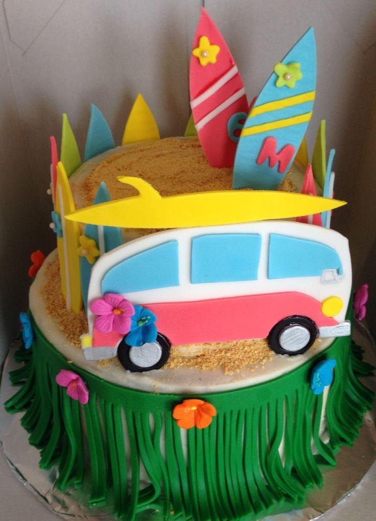 Teen Beach Movie inspired/surfer girl cake