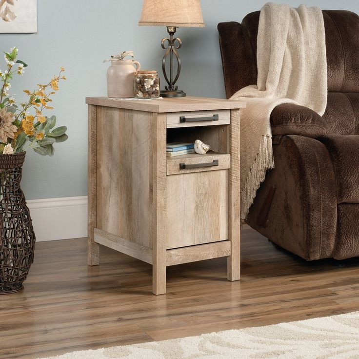 Sunlight Spire End Table With Storage