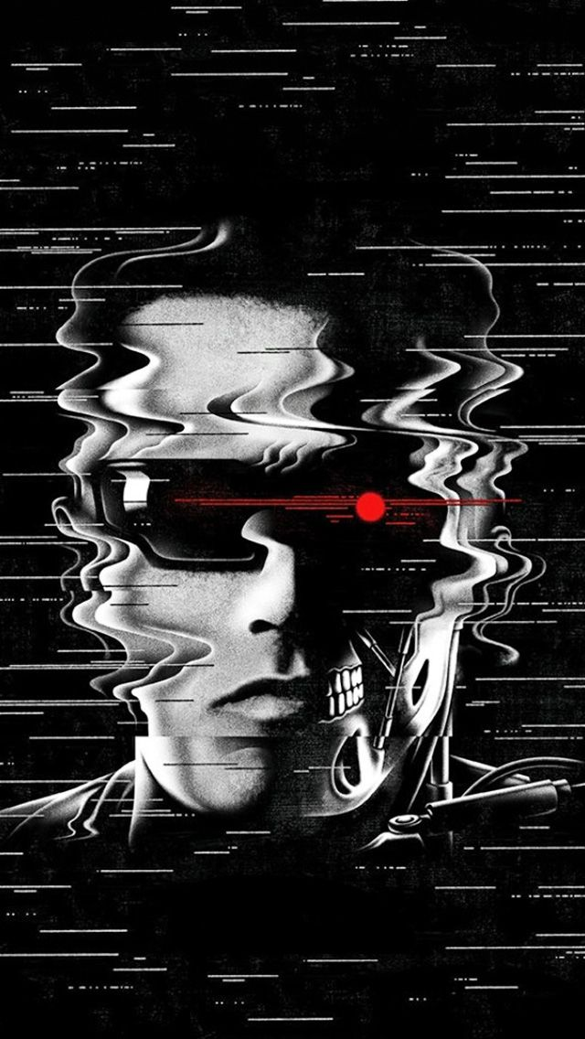 ↑↑TAP AND GET THE FREE APP! Art Creative Movie Cinema Terminator Genisys Robot Machine Arnold Schwarzenegger Hollywood Glasses Red Eye HD iPhone 5 Wallpaper
