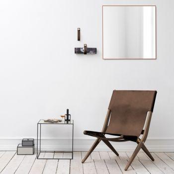 By Lassen Saxe nojatuoli, ruskea/ruskea nahka | By Lassen Saxe | Nojatuolit & rahit | Huonekalut | Finnish Design Shop