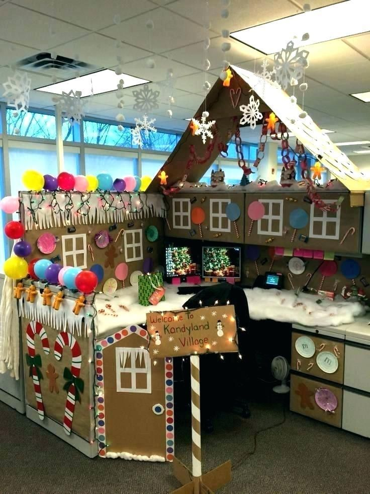Christmas Office Themes Office Christmas Decorations Holiday Office Decor Christmas Cubicle Decorations