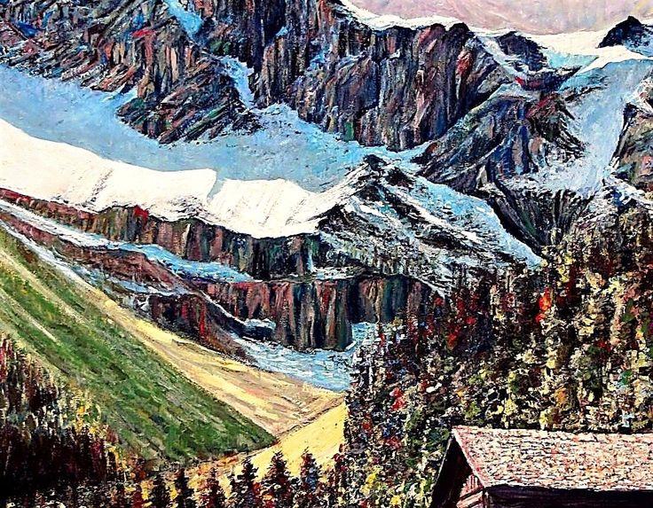 By Doctor Rida Yaghi -Oil painting – – itt: Altaussee-Schifffahrt