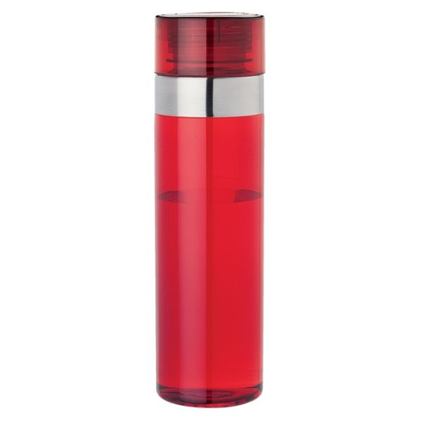1 Litre Tritan Water Bottle Description BPA Free Tritan Material 1 Litre Capacity Stainless Steel Band Screw-Off Lid