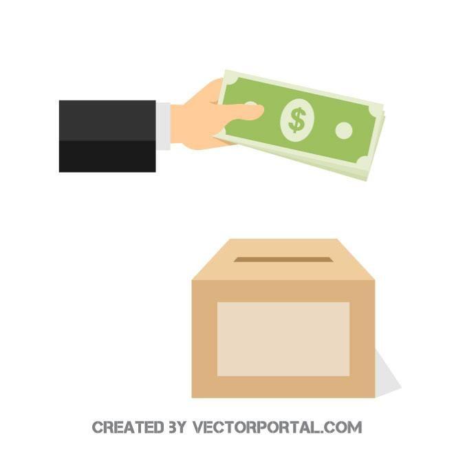 donation box vector graphics | donation box, vector graphics, vector free  pinterest