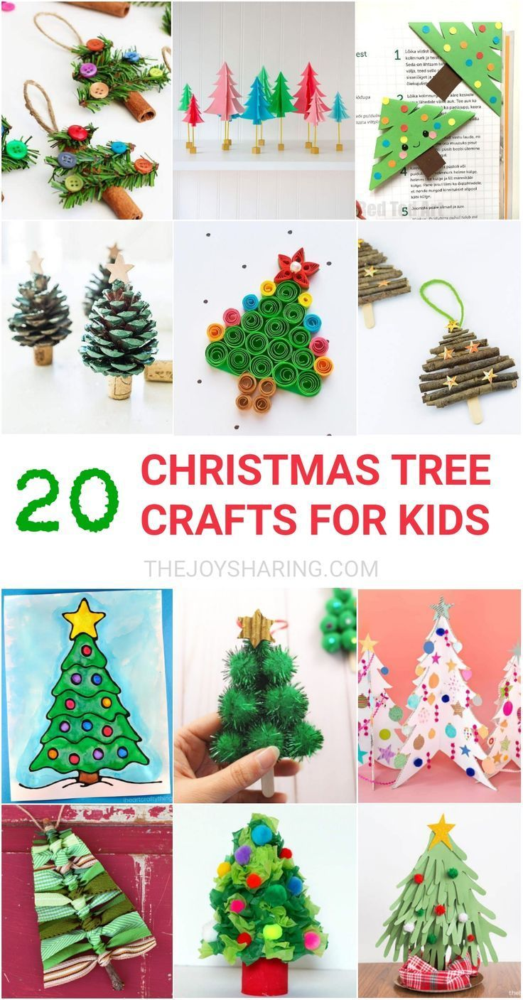 20 Christmas Tree Crafts For Kids Christmas Tree Crafts Christmas Crafts Christmas Crafts For Kids