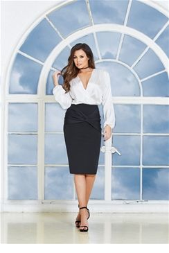 Jessica Wright Myah Ruched Front Pencil Skirt    £40.00