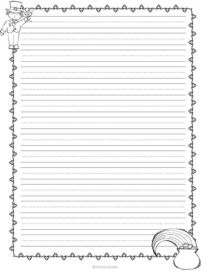 St Printable Day Patricks Writing Paper
