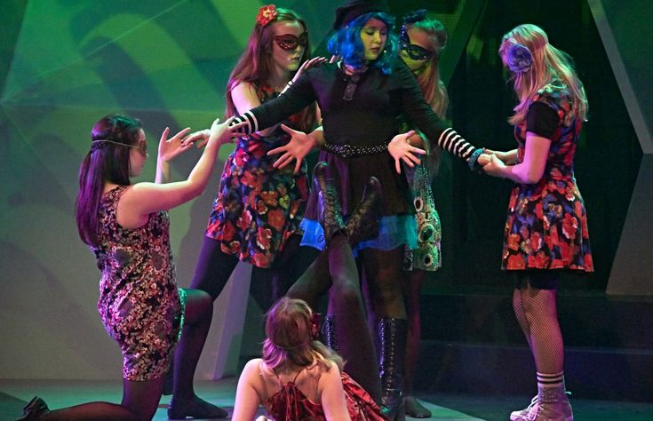 Alice vs Wonderland by Blue Bridge Repertory Theatre, November 25-December 14, 2014 in Victoria BC. A fresh take that owes much to the aesthetic of music videos, and pop culture. It's sure to please younger audiences who will get all the musical references.  http://janislacouvee.com/alice-vs-wonderland-blue-bridge-roxy-review/