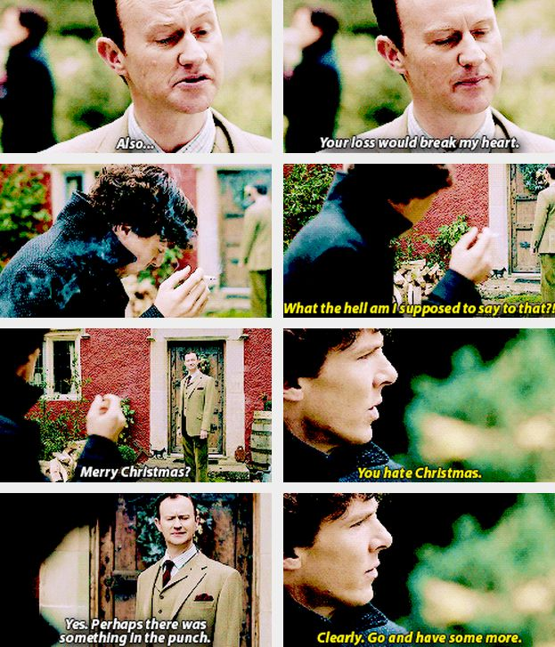 Perhaps there was something in the punch... Mycroft knew