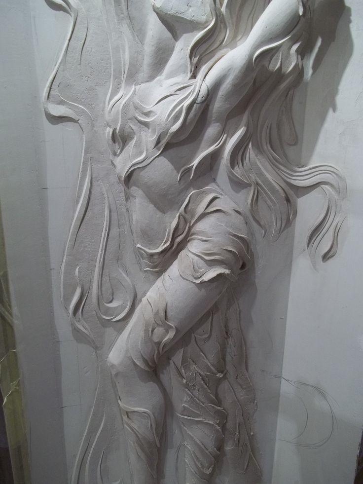 Bas Relief Arka Plaster Wall Art Plaster Art Plaster Sculpture