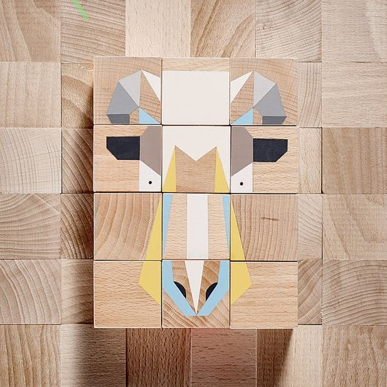 wooden blocks | animals toys | handmade | ecopaint | educational toys  #projekt_dzioopla #handmade #woodenblocks