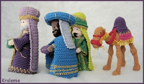 Crocheted Christmas Creche Figures - for crochet nativity set