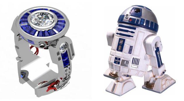 Anel de Noivado R2-D2-a