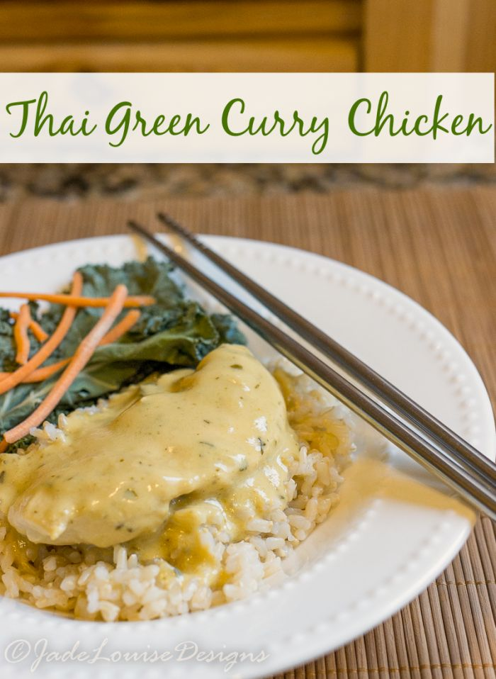 Easy Thai Green Curry Chicken Recipe plus how to protect your dinner from hungry cats w/ #nutrishforcats