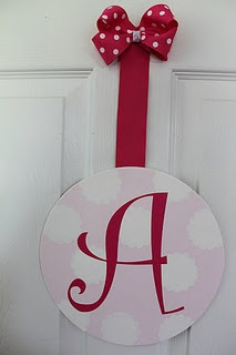 $15 love making these door name/initial plates and hair bow holders!