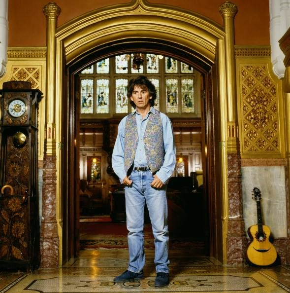 George Harrison at Friar Park, near Henley-on-Thames, south Oxfordshire 1990