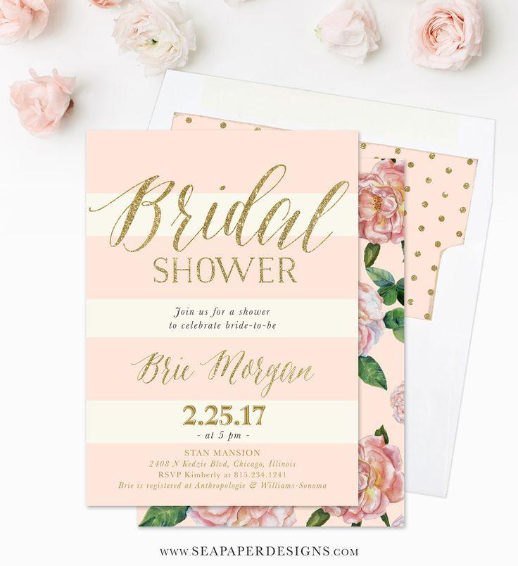 Bye Bye Single Life Themed Bridal Showers Bridal Shower Ideas Gold Bridal Shower Invitations Rose Gold Bridal Shower Gold Bridal Showers