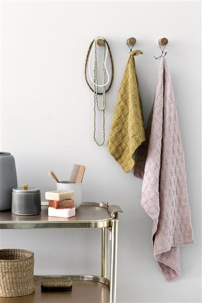 T44: Design 19 Klut og håndkle #bomull #cotton #strikk #knit #klut #washing