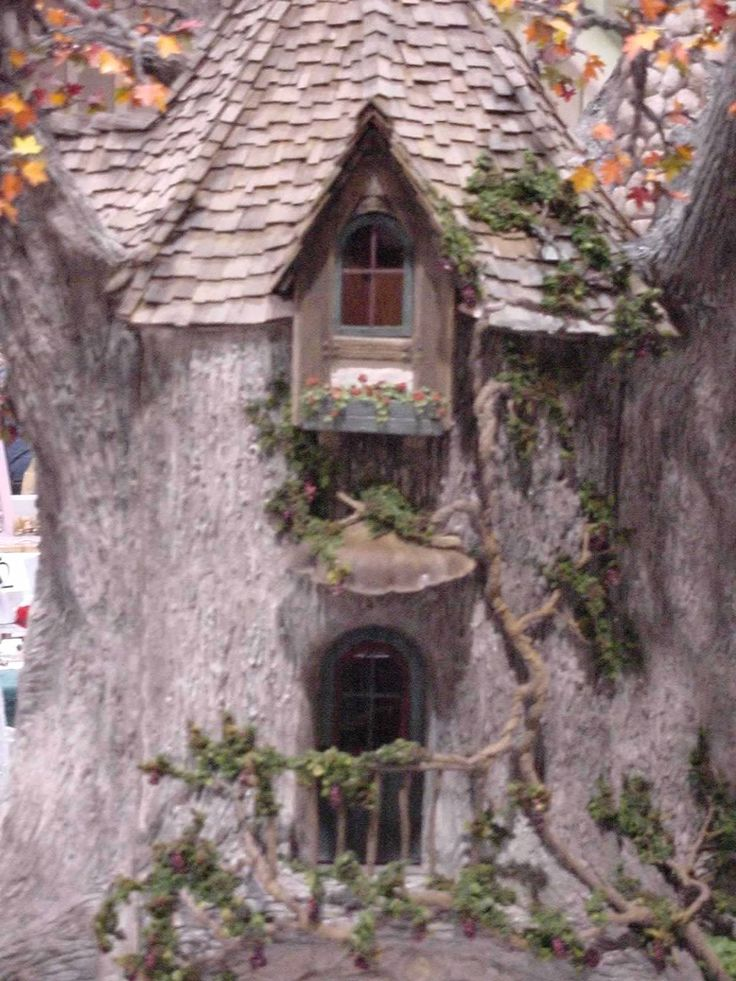 141 Best Images About Tree House Miniature On Pinterest