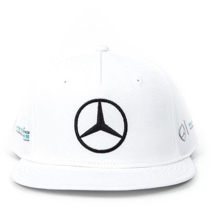 Mercedes Benz Petronas F1 Lewis Hamilton 2017 White Flat Brim Hat