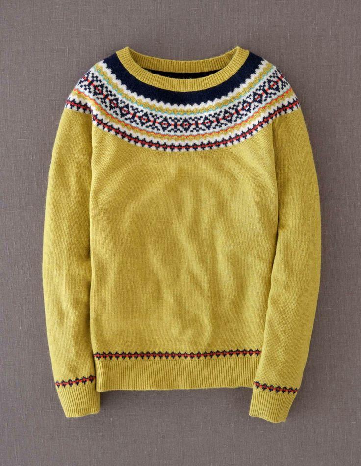 Fair Isle Yoke Sweater