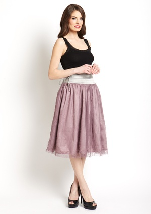 RYU Knee-Length Tulle Skirt: