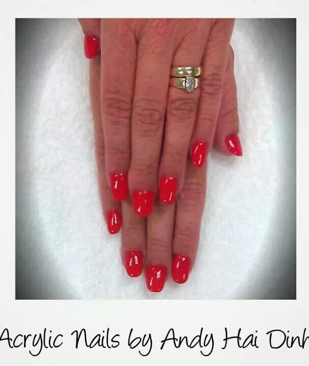 Acrylic Nails for very short and wide nail beds.