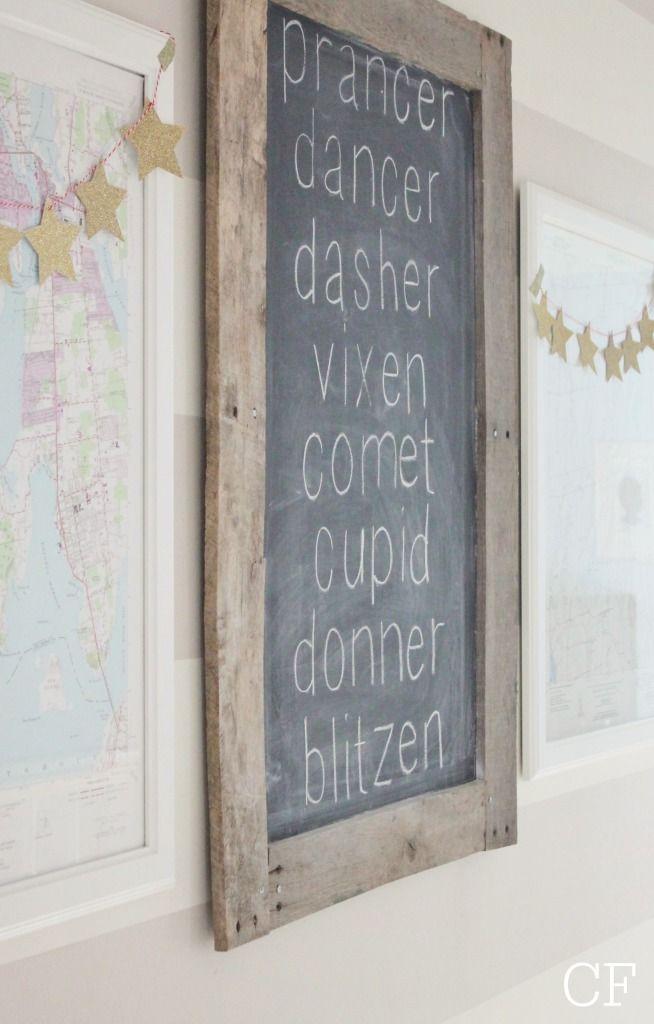 Reindeer Chalkboard