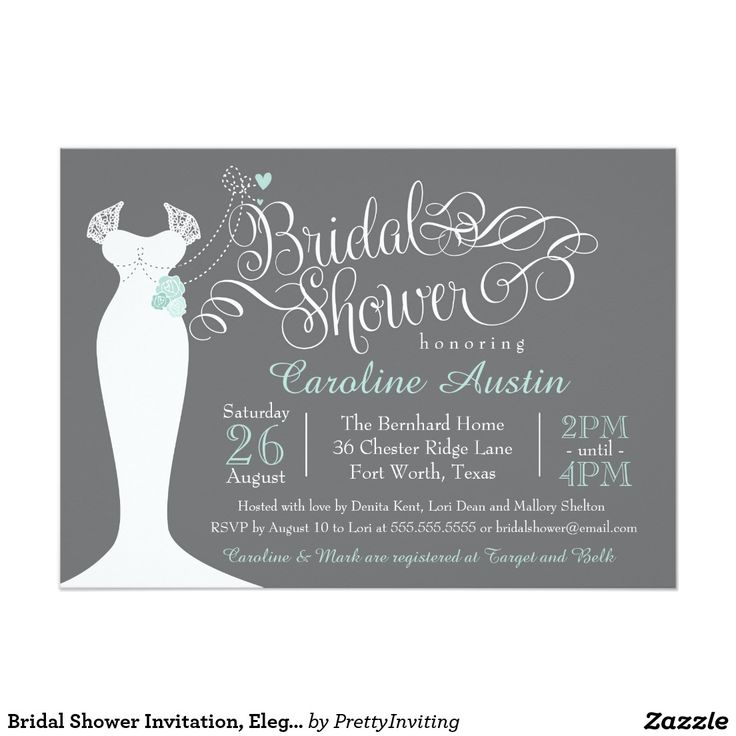 free e cards bridal shower invitations%0A Bridal Shower Invitation  Elegant Wedding Gown  x  Paper Invitation Card