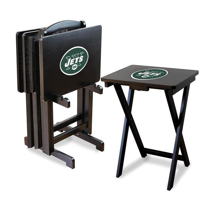 New York Jets NFL TV Tray Set with Rack