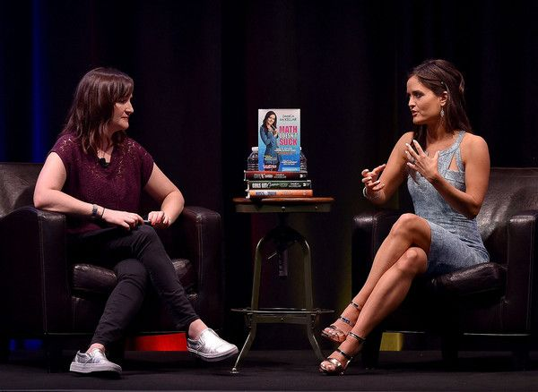 """Doree Shafrir (L) and actress Danica McKellar speak onstage during The Paley Center For Media & Google present """"Cracking the Code: Diversity, Hollywood & STEM"""" at Google Headquarters on October 3, 2015 in Venice, California."""