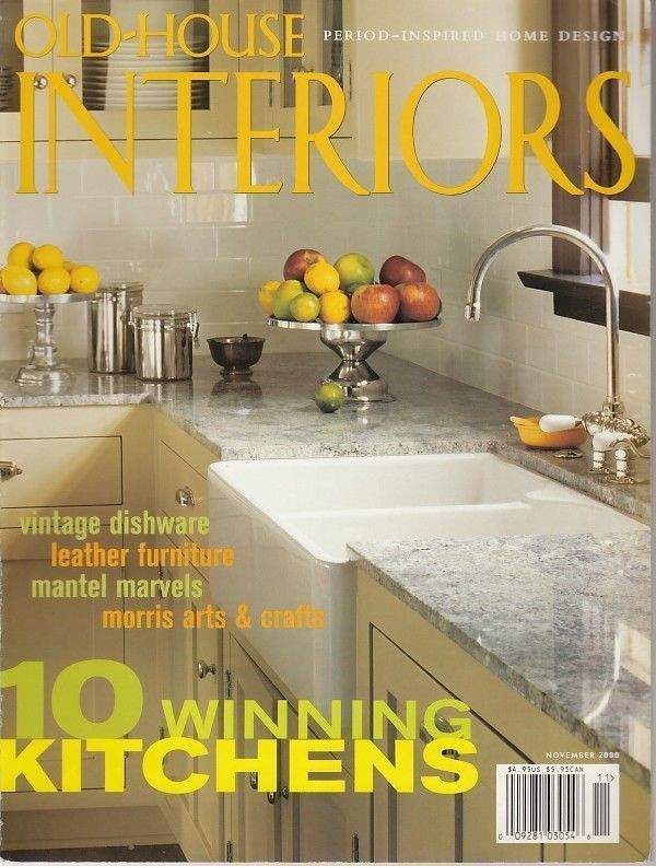 Old House Interiors Magazine November 2000 Kitchens Leather Furniture  Wallpapers